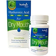 Hyalogic HylaMints - Hyaluronic Acid for Dry Mouth - Great Tasting Mints to Moisturize the Mouth - 60 Mint Lozenges
