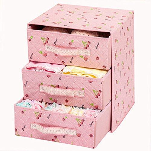 xytmy Faltbare Organizer Aufbewahrungsbox BH Unterwäsche Socken Schrank Schublade Divider Kit Kommode Container Set von 3