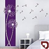 DESIGNSCAPE® Wandtattoo Banner Pusteblumen - Pusteblume Wandbanner 39 x 120 cm (Breite x Höhe) dunkelrot DW804087-S-F21