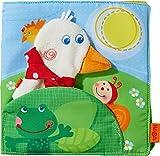 HABA 303152 - Stoffbuch Gans Putzig2 | Erstes Bilderbuch aus Stoff mit 8 Seiten | Babybuch mit Fingerpuppe Gans Putzig | Ab 6 Monaten
