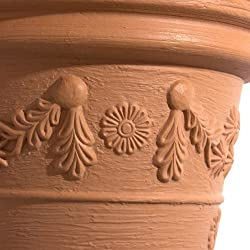 TERRA Pot de Fleurs Decora, Terre Cuite, 57 cm