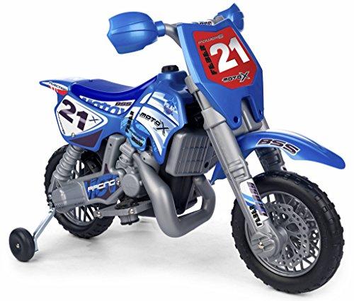 Famosa 800002995 Cross Moto X, con Casco Moto, blu/grigio