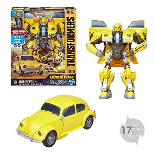 TRANSFORMERS Saga - Robot électronique Bumblebee Coccinelle Power Charge 30cm - Jouet transformable 2 en 1