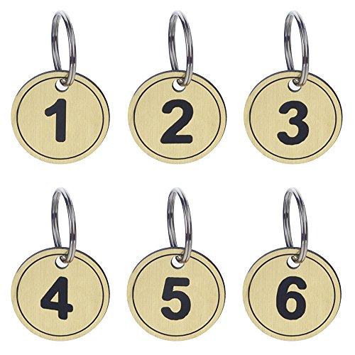 Aspire Schlüsselanhänger ID Tag Nummeriert ABS mit Ring 50Packungen Golden 1bis50