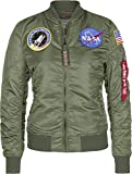 Alpha Industries NASA Damen Bomberjacke VF Wmn (S, Sage-Green)