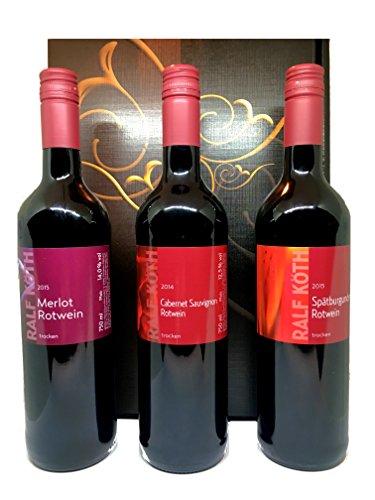 Weinset Weingut Köth Rotwein im Geschenkkarton