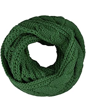 Bufanda Unisex, TININNA Otoño Invierno Cálida Circle Bufanda de Abrigo de Cuello de Punto para Mujer y Hombre-Verde