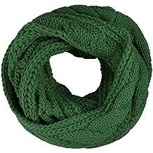 TININNA Donne Ragazze Caldo Inverno grosso Infinity Snood maglia Sciarpa  Circle Sciarpe lavorata a maglia Sciarpe 9564829bc8ea