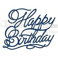 Tattered Lace D424 - Fustelle con motivo: Happy Birthday, design: Stephanie Weightman