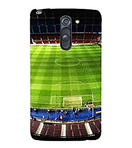 FUSON Football Stadium Day Blue 3D Hard Polycarbonate Designer Back Case Cover for LG G3 Stylus :: LG G3 Stylus D690N :: LG G3 Stylus D690