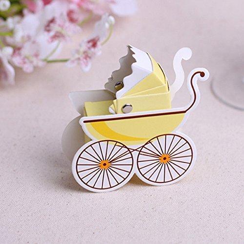üßigkeiten Geschenk Boxen Baby Dusche Kinderwagen Gastgeschenken Form (gelb) (Baby Dusche Süßigkeiten Formen)