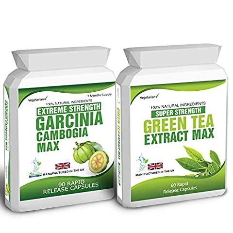 90 Garcinia Cambogia & Green Tea Extract Diet Weight Loss Fat Burner Pills Free Weight Loss Dieting