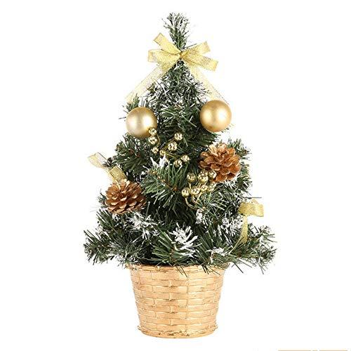 hysxm 40Cm Weihnachten Mini Kleine Kiefer Tischdekoration Ornamente Weihnachtsschmuck Für Home Xmas Tree (Tree Ornaments Halloween Mini)