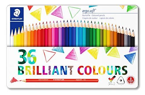 Lápices de colorear triangulares de Staedtler Ergosoft 157SB12, color Assorted 36 unidades