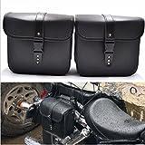 1 paio di borse laterali laterali in pelle PU impermeabile posteriore sedile da sella borsa da...