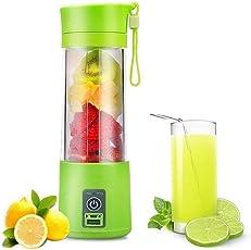 DeoDap Plastic Portable USB Electric Juicer, Protein Shaker, Blender Mixer Cup Bottle Juicer (D_Juicer_Cup, Multicolour)