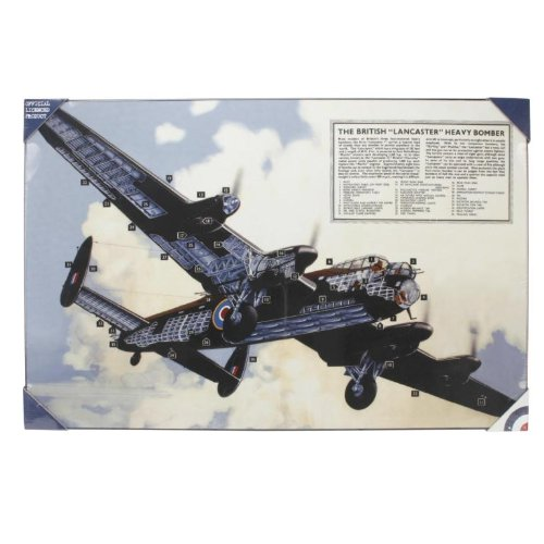 The Leonardo Collection Leinwanddruck Lancaster Bomber, groß, 70 x 46 cm, offizielles Lizenzprodukt