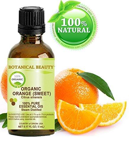 Huile essentielle Orange BIO. 100% qualité pure thérapeutique, la qualité prime, non dilué - 5ml.