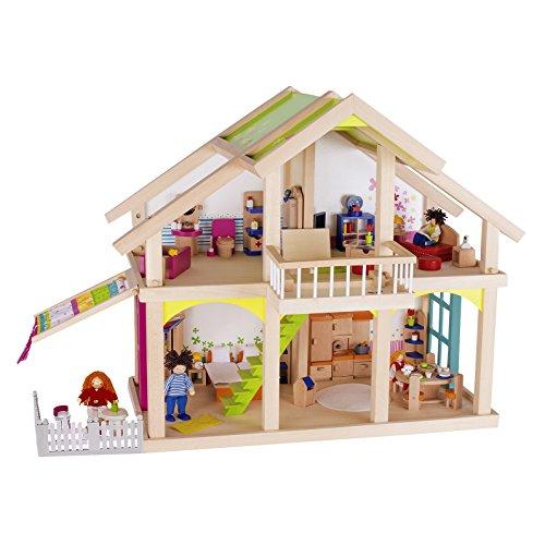"""Goki 51588 Puppenhaus """"Veranda Susibelle"""" aus Holz/Textil"""