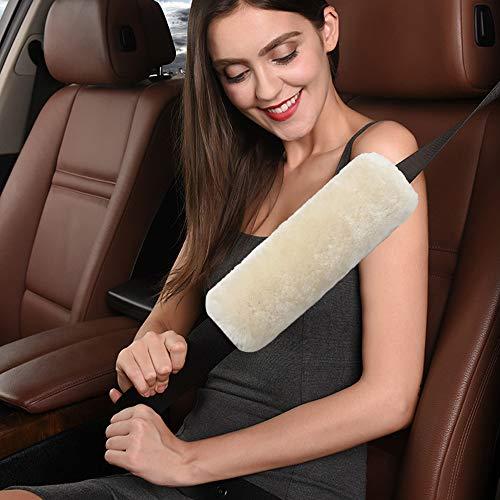 Imbottitura cintura auto sicurezza, lana australiana guaine per cintura di sicurezza auto per bambini e adulti, viaggio ammortizzatori