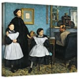 Art Wall Die Bellelli Familie 61 Leinwand Artwork von Edgar Degas, 14 by 18