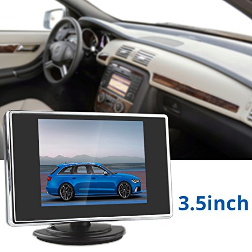 240v Verdrahtung (ePathChina® 3,5 Zoll TFT LCD Auto Rückspiegel Monitor Farb LCD 2 Video Eingang 960H x 240V NTSC / PAL Auto, Unterstützung Rückfahrkamera, Einparkhilfe DVD VCD speziell auto Rückspiegel)