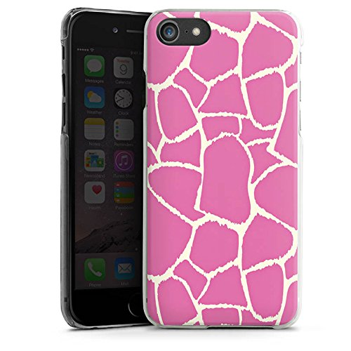 Apple iPhone X Silikon Hülle Case Schutzhülle Giraffe Pink Animal Print Hard Case transparent