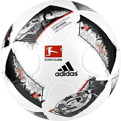 adidas Uni Dfl Junior 350 Fußball, White/Black/Solar Red, 5