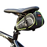 DRUnKQUEEn Outdoor Waterproof Bike Saddle Bag by Cycling Seat Pouch Strap on Bicycle Tail Rear Storage for Cellphone Smartphone