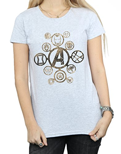 Absolute Cult Avengers Femme Infinity War Icons T-Shirt Sport Gris