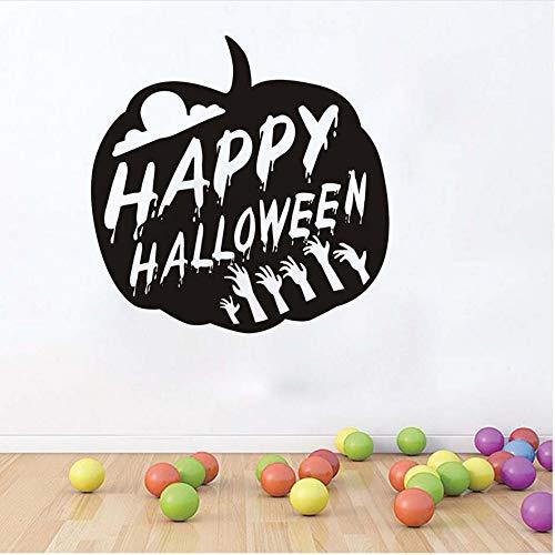 ppy Halloween Kürbis Party Aufkleber Moderne Wandaufkleber Für Schlafzimmer Wohnzimmer Wohnkultur Wasserdichte Wohnaccessoire Tapete ()