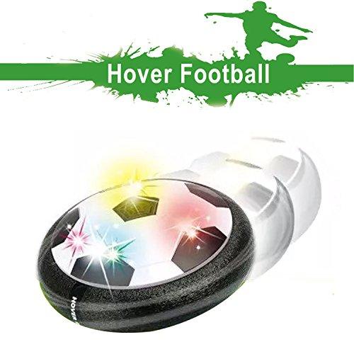 Air Hover Ball Spielzeug Power Soccer mit weichen Schaumstoff Stoßstangen und bunten LED-Leuchten, Training Glide Base Fußball indoor & outdoor mit den Eltern, Spaß Spiel für Kinder