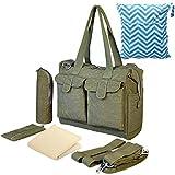 KF Baby Diaper Bag Value Set Stroller Straps, Wet Dry Bag, Changing Pad