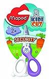 Maped–Coupe droite pour enfant gaucher Ciseaux de sécurité 12cm/10,2cm–[Violet & Blanc]