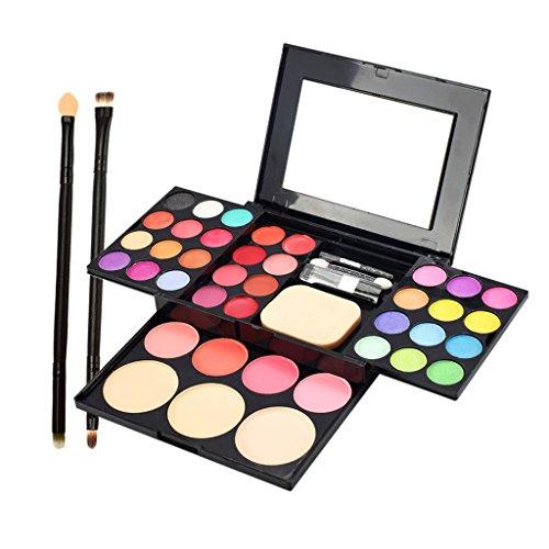 MagiDeal Kit de Maquillage avec Pinceau de Maquillage Set Fard à Paupières Rouge à Lèvres Brillant Fondation Concealer Maquillage Palette Maquillage Ensemble Cosmétique