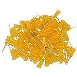 WEONE orange 1/2 Zoll 25Ga Kunststoff stecken Stecker Dosiernadeln Edelstahl stumpfe Nadel (100 Stück)