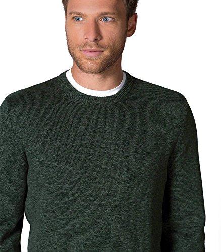 WoolOvers Pull à col rond texturé - Homme - 100 % coton Moss