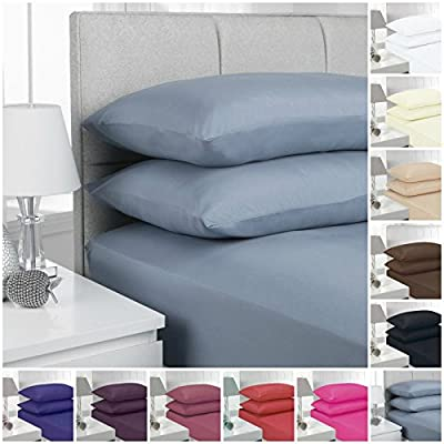 "16""/40CM Extra Deep Fitted Sheets Percale Polycotton sheets 24 Colours - cheap UK light store."