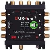 DUR-line MS 5/8 B - eco - Stromloser Multischalter - Multischalter für 8 Teilnehmer - Geringe Stromaufnahme - 0 Watt Standby Multiswitch [Digital, HDTV, FullHD, 4K, UHD]