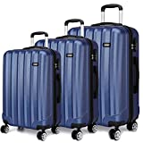 Best Suitcases Sets - Kono Luggage Sets of 3 Piece Lightweight 4 Review