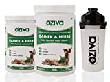 OZiva Gainer & Herbs, High Protein Mass ...