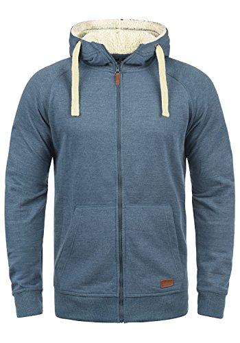 Blend Speedy Teddy Herren Sweatjacke Kapuzen-Jacke Zip-Hoodie aus Hochwertiger Baumwollmischung, Größe:M, Farbe:Ensign Blue Teddy (74654)