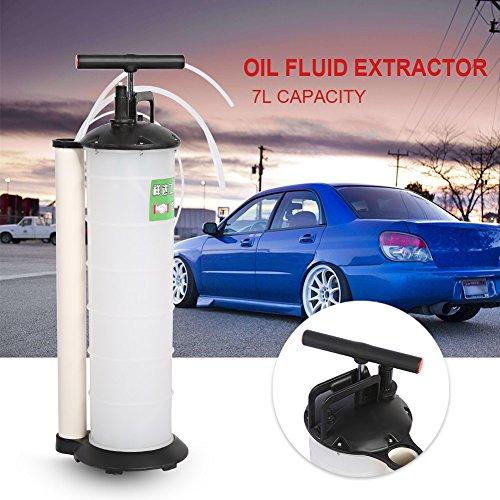 Yosoo Pompa di aspirazione dell'olio,oil change pumps manuale,Strumento per sostituzione liquido freni, pompa dell'acqua di trasferimento per l'olio combustibile diesel Automobili,7 L