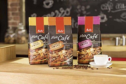 Melitta Ganze Kaffeebohnen, charaktervoll und intensiv mit Nuancen dunkler Schokolade, kräftiger Röstgrad, Stärke 4, Mein Café Dark Roast, 1000 g - 7