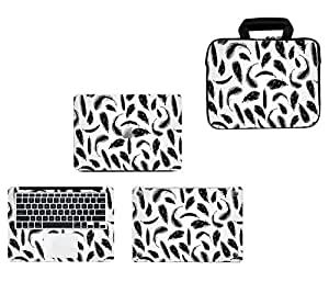 Theskinmantra 4 in 1 Combo : Laptop sleeve with handle and chain, and Full Body Laptop skin for Apple Macbook Pro 13