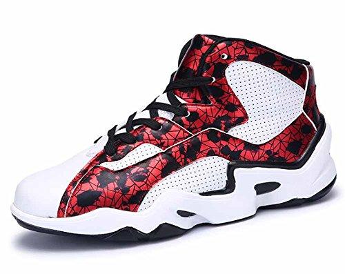 Uomini Traspirante Sneakers Di Pallacanestro Autunno Shake Adhesive Young Students All'aperto Scarpe Da Corsa Red