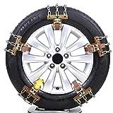 Leiyini Schneeketten Auto Reifen Notfall Schnee Reifen Kette Auto Sicherheitskette für Das Auto Truck