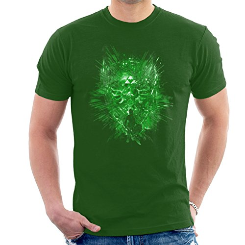 Legend Of Zelda Legendary Shield Men's T-Shirt Bottle Green
