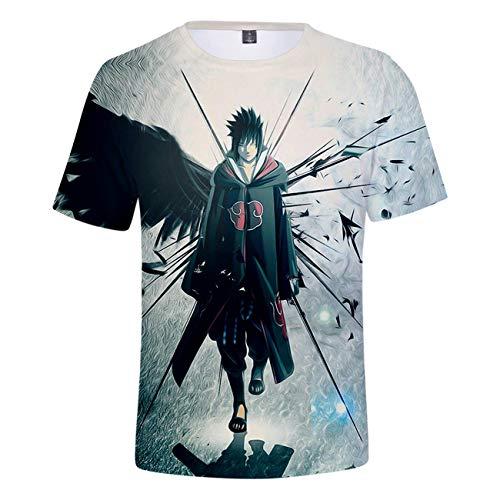 SERAPHY Unisex T-Shirt Naruto Cartoon Shirt Erwachsene Cosplay 3D gedruckt T-Shirt Kurzärmeliges Oberteil-133-S