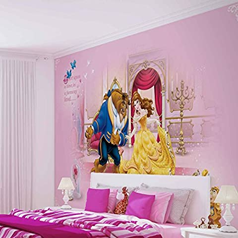 Disney Prinzessinnen Schöne Biest - Forwall - Fototapete - Tapete - Fotomural - Mural Wandbild - (592WM) - XXL - 312cm x 219cm - VLIES (EasyInstall) - 3